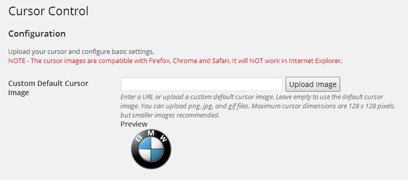Cursor Control - A WordPress Custom Cursor Plugin